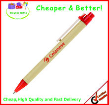 Factory prices Promotional logo printed recycled pen