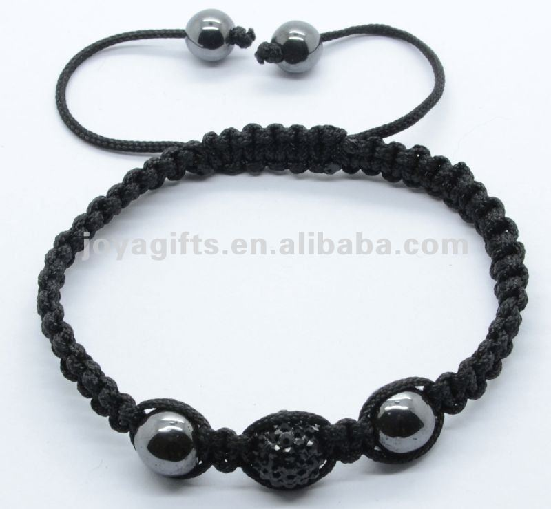 top quality woven bracelet cheap shamballa bracelets sideways cross shamballa bracelet with Polymer clay Crystal balls