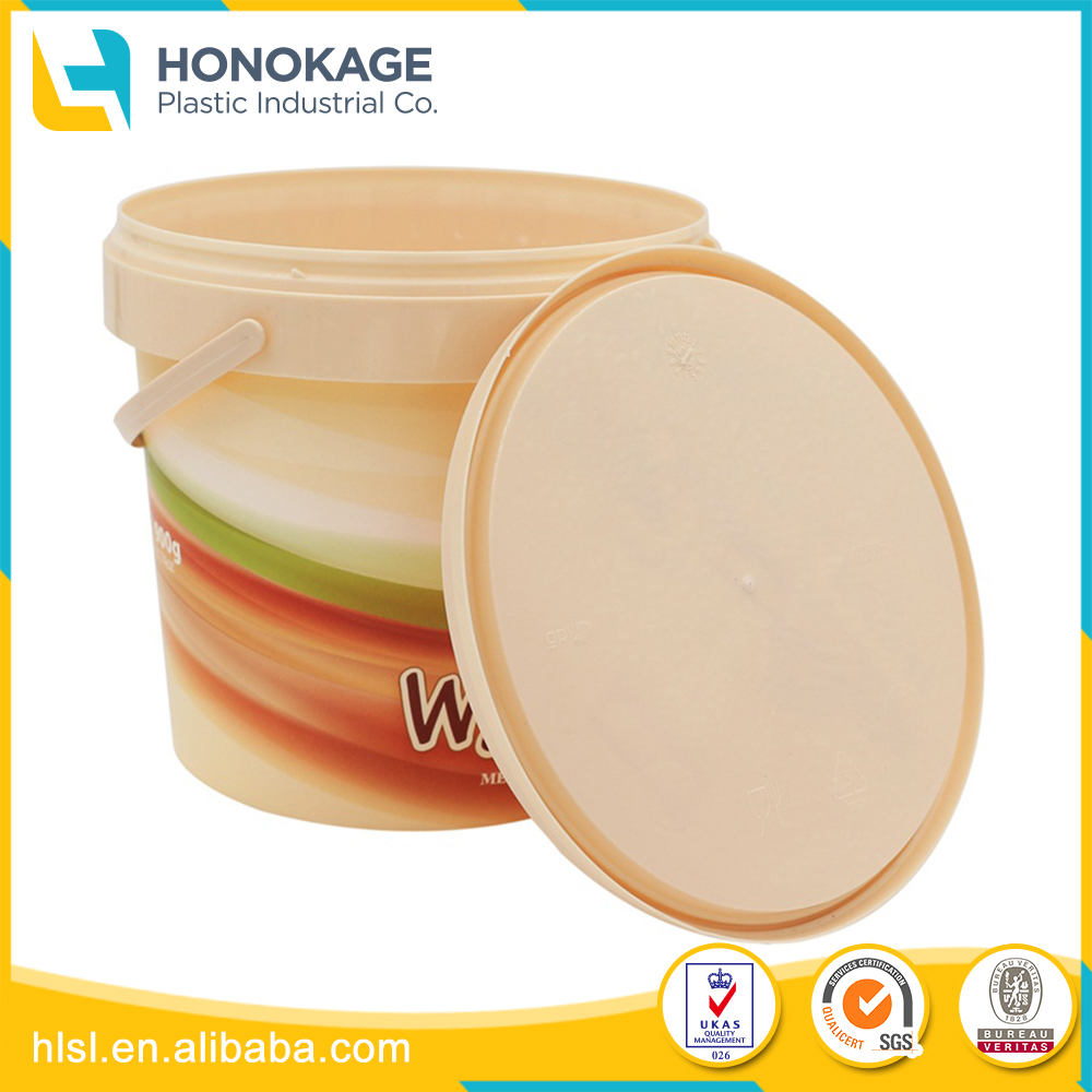 Customized Round Plastic Cup, Custom Packing Box with Handle And Lid
