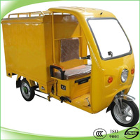 Hot selling closed body electric express tricycle