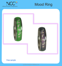 Hot selling 12 color high quality mood ring mood stones ring adjustable jewelry