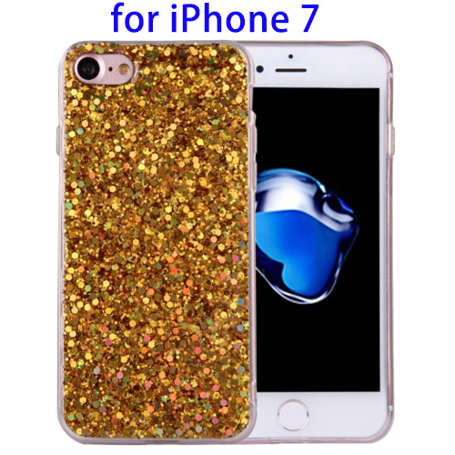Twinkling Paillette Plating Soft TPU Protective Case cover for iPhone 7 Phone Accessories