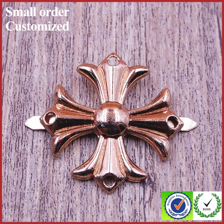 Designs wall decors lapel pin art gold flower metal crafts