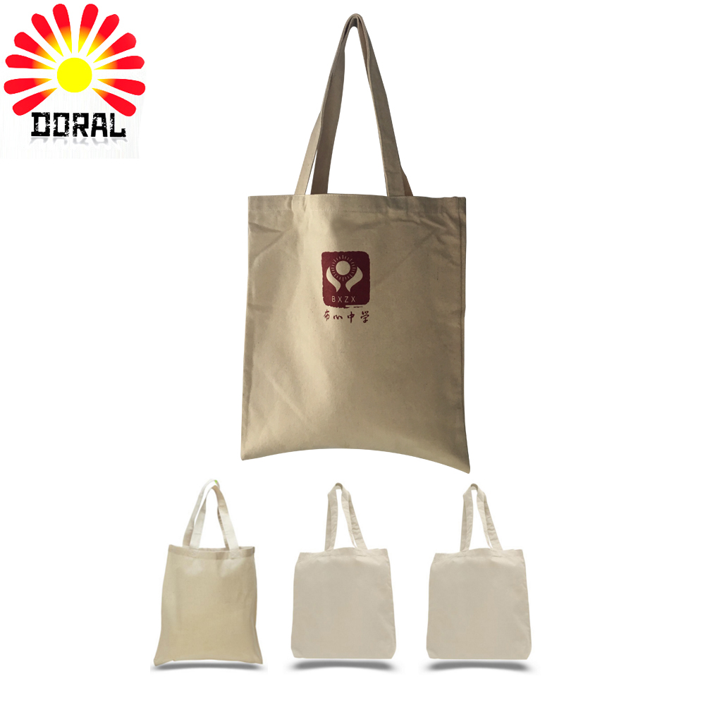 New products custom printed organic shopping small tote drawstring canvas cotton bag