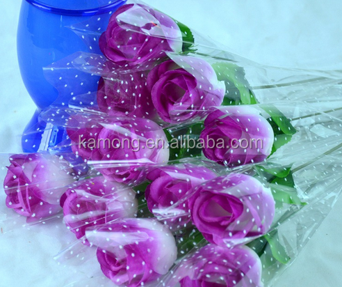 Colorful Artificial Rose ArtificialFlower Decoration for wedding and Valentine's Day Gift