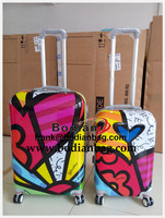 professional abs/pc hard shell luggage trolley case factory