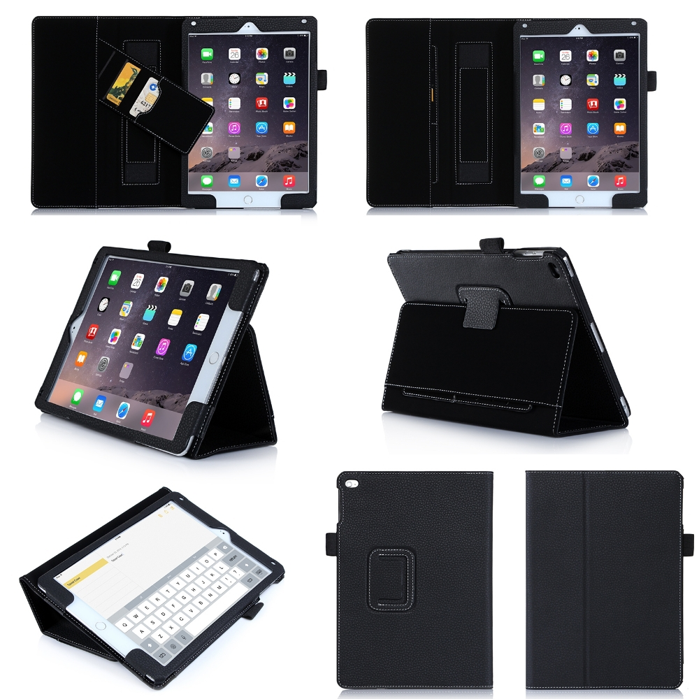 Good Quality Folding Flip Leather for iPad Air 2 Case Cover