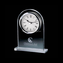 Elegant personalized crystal big desk clock for table decoration and souvenir gift