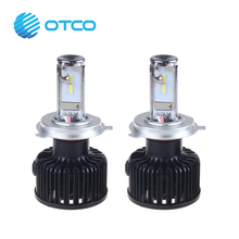 Car H4 9003 HB2 led headlight Hi Lo Bulb Conversion Kit 7600LM Xenon White 6000K