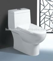 One Piece Ceramic Toilet for hotel or bathroom