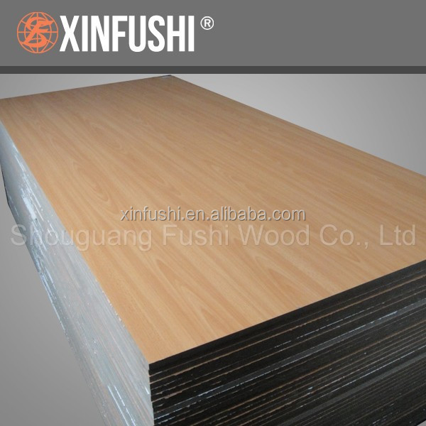 Nigeria required 18mm laminated mdf board with Beech faced melamine paper