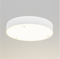 hot sale Latest new design modern 40cm Round Glass LED dimmable 24W 1500LM ceiling light /plafon for indoor lighting