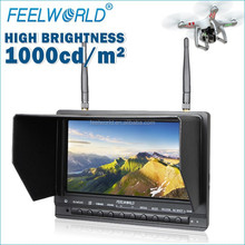 FEELWORLD 7inch Portable DVR TF Card max up to 32G brightness fpv monitor quadrocopter no radio with hdmi av