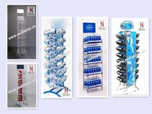 Useful Free Standing Mineral Water Display Rack and Stand/Retailed Steel Wire Softdrink Display Rack/Beverage Display Shelf