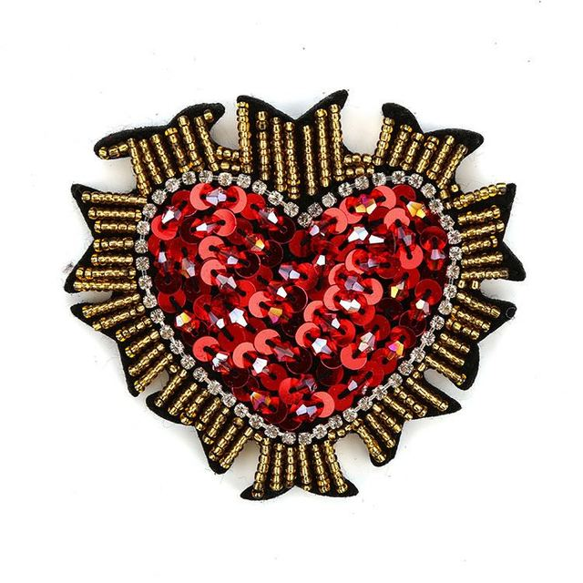 New arrival colorful double sequined rhinestone pearl beaded applique patch