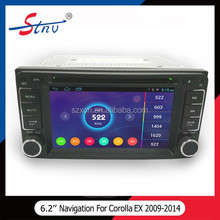 Android 2 Din 6.2 Inch DVD Navigation With Car GPS For Toyota Corolla EX 2012