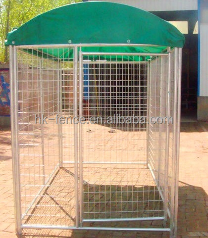 Galvanized/powder coated outdoor dog play house,welded dog kennel fence panel,cheap dogs run houses customize in China