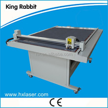 2015 rabbit 900*1200mm 2mm cardboard flatbed plotter cutter
