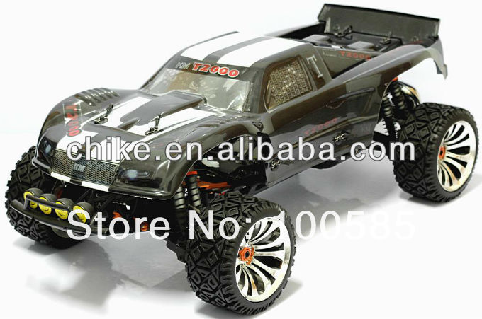 30.5cc 4 Bolt engine 4WD RC truck 1/5 RC CAR 8pcs suspentions shocks +Tunepipe + Chrome Rim +2.4G 3CH Transmitter RTR