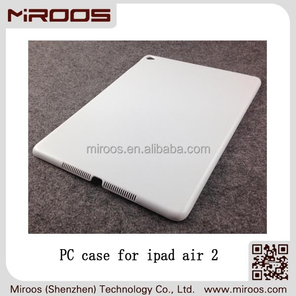 MIROOS custom plain hard PC polycarbonate tablet case for apple ipad air 2