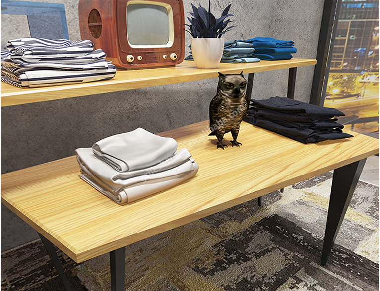 Display table group. clothing store fixtures. industrial style HA01L01