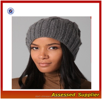 XY141/ Custom fashion knitted winter beanie hat for women/ cheap winter beanie hat wholesale