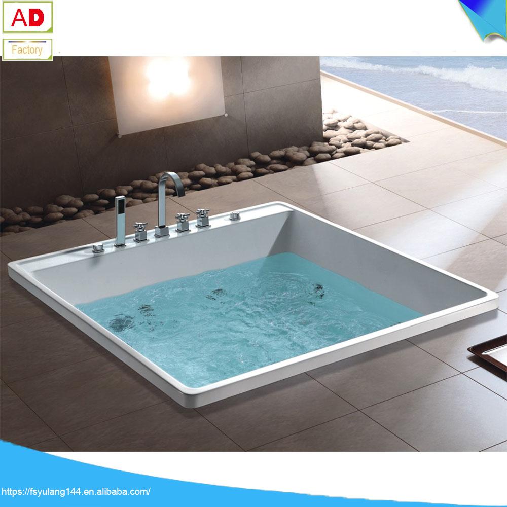 Ad-1503 Small Built In Bathtub/ Walk In Bathtub Square Two People ...