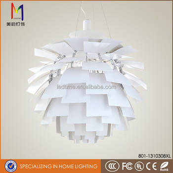High Quality PH Artichoke modern pendant light chandelier silver color for home decoration