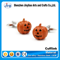 fashion kids' zinc alloy pumpkin shape cool cufflinks