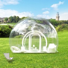 Outdoor camping White igloo inflatable clear bubble tent, inflatable camping tent for sale,clear inflatable lawn tent