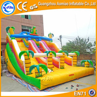 giant waterproof 0.55m PVC inflatable dry slide for kids and adults