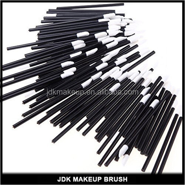50pcs packed Black Handle MakeUp Lip Brush Disposable Lipstick Gloss Wands Applicator Perfect Make Up Tool