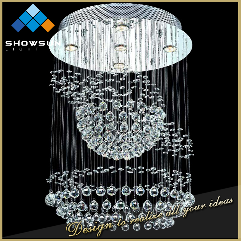 Guzhen wholesale beaded glass big size cristal chandelier
