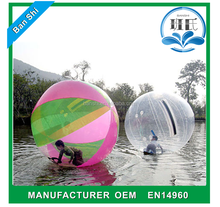 0.9mm PVC tarpaulin large inflatable ball, inflatable water walking ball