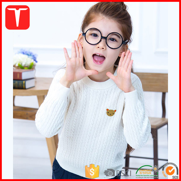 Stylish cable knit pullover woolen sweater designs for girls