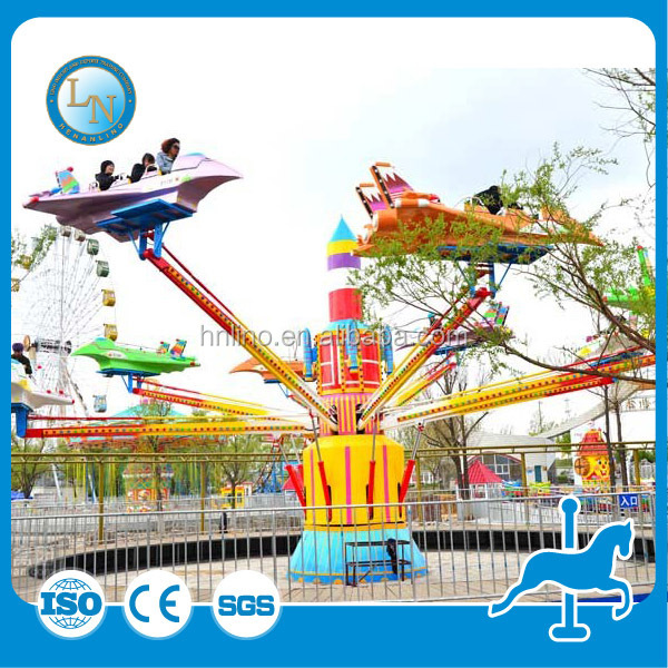Children rides helicopter ! kiddie amusement airplane