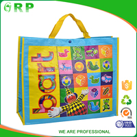 Best supply yellow handle clown toy pp woven personalised shopping bag