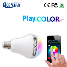 Smart app control bluetooth bulb audio led light speaker with remote control