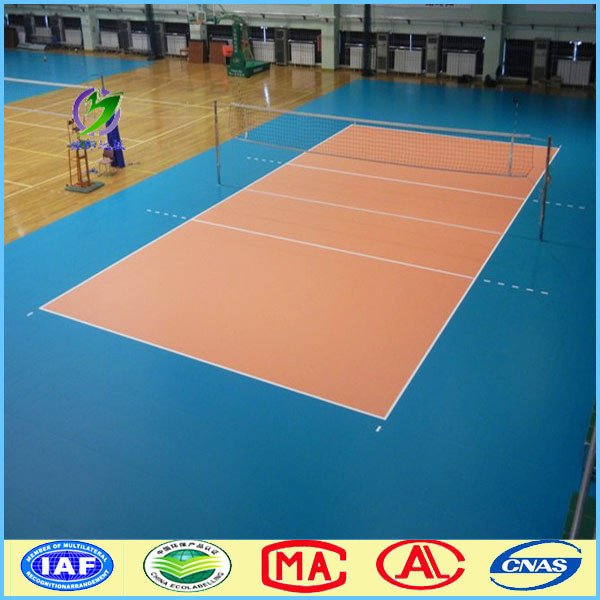 Professional Volleyball Sports Hall Flooring Covering