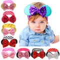 Sequin Bow Bunny Baby Headband