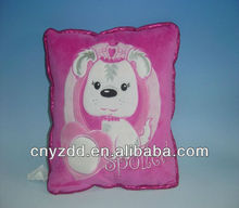 plush dog cushion/dog cushion/plush and stuffed dog cushion