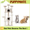 Adorable cat scratching post tree cat tree cat condo pet toy