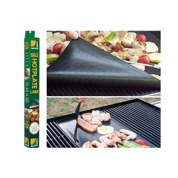 Reusable PTFE Coated Non-stick Silicone BBQ Grill Mat cook without fat and oil
