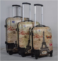 Nice PC Material American 3 Piece Trolley Luggage Set PC Luggage