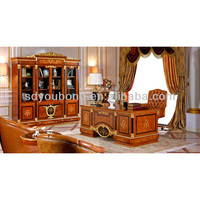 0038 European solid wood luxury study room furniture