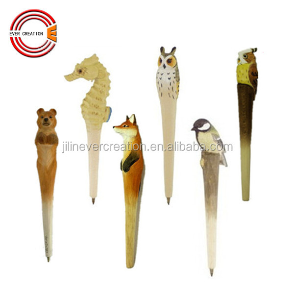 promotional wood carving animals pen