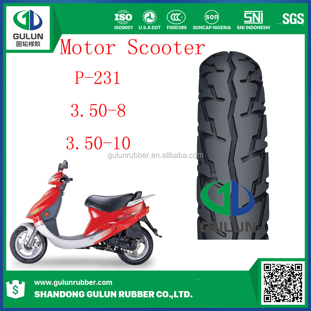 South America Market3.50-8 3.50-10 Scooter Motorcycle Tire