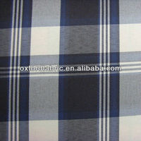 polyester blue white check oxford fabric for table cloth 150d waterproof tent fabric