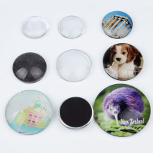 Wholesale Round Square Heart Custom Design 3D Paper Blank Printed Photo Glass Crystal Fridge Magnet For Promotion Souvenir