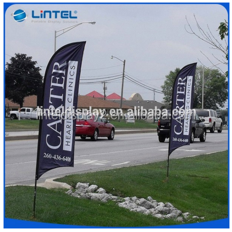 High quanlity ! outdoor telescopic aluminum flagpole with banner for advertising